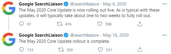 Google Update May 4th