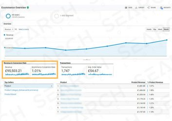 Ecommerce seo revenue continues to grow